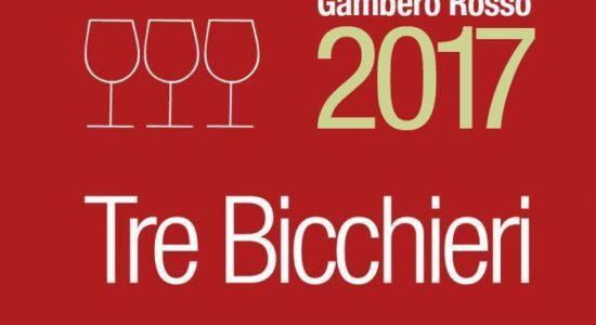 Tre Bicchieri Gambero Rosso 2017!!!!