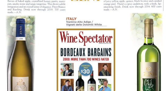 Ottime notizie da Wine Spectator!!!