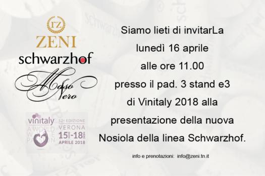 A Vinitaly 2018 la nuova Nosiola Schwarzhof